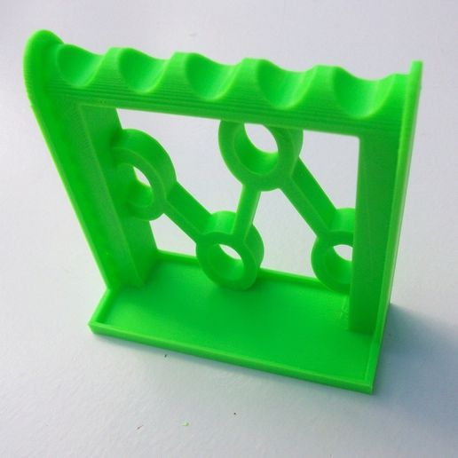 modern_plier_tool_rack_plain_display_large.jpeg Download free STL file Modern Plier/Wirecutter Rack with Component Tray • 3D printable object, Balkhagal4D