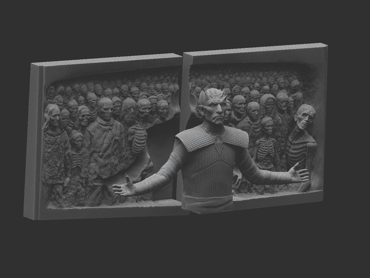 ZBrush Document.jpg Download STL file Game of Thrones - Night King - Hardhome Relief • 3D printing model, brkhy