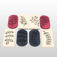 Screenshot_1.png Download STL file STAMP FOR POLYMER CLAY PRINTED IN 3D- silhouettes of plants and leaves 🌿🌾-LORREN3D • 3D printing design, lorren3d