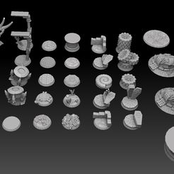 roundbase megapack sidetop.jpg Download STL file Round Base Megapack • 3D printer object, SharedogMiniatures