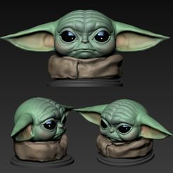00.jpg Download OBJ file Yoda baby (The Child) • 3D printer model, Dynastinae