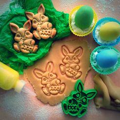 IMG_8951.JPG Download free STL file Easter Bunny Cookie Cutter • 3D print design, OogiMe