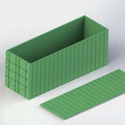 Evergreen.jpg Download STL file Sea-Can Shipping Container • 3D printing object, Larry44