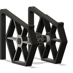 Lapto Tiefighter v10.png Download STL file Tie Fighter Laptop Stand • Design to 3D print, disenamepr