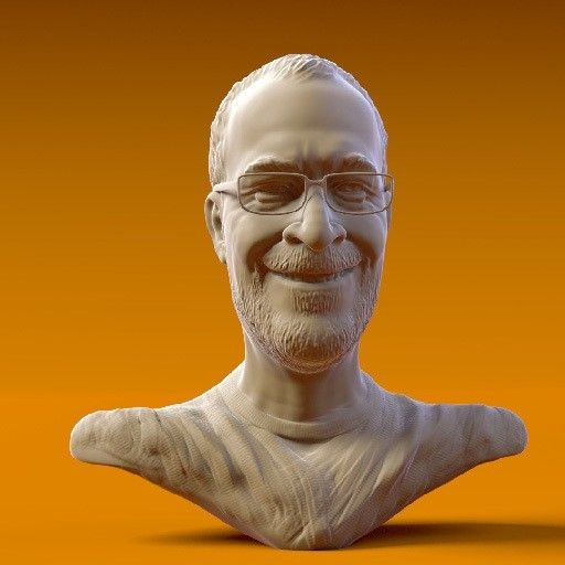Ton Roosendaal512x512.jpg Download OBJ file Ton Roosendaal • 3D printing object, MWopus