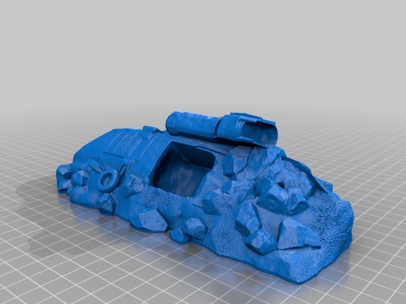 Helicoptero-28mm_repaired.png Download free STL file Crashed helicopter (repaired) • 3D printable object, onebitpixel
