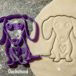 dachshund.JPG Download STL file Dachshund / Sausage Dog Cookie Cutter • Design to 3D print, FatDogCookieCutters