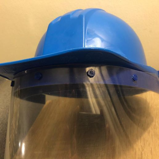 WhatsApp Image 2020-06-05 at 11.16.05 AM (1).jpeg Download STL file face shield adaptor security helmet • 3D printable model, wernerfrass