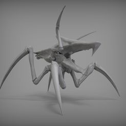 gray-Clay-1.jpg Download STL file Spider - Z Warrior bug  • 3D printable object, XONID