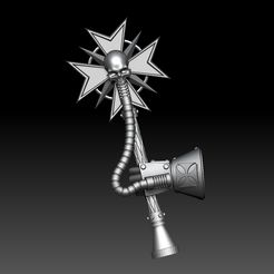 ZBrush Document1.jpg Download STL file Custom Templar Crozius • 3D print object, ssharkus