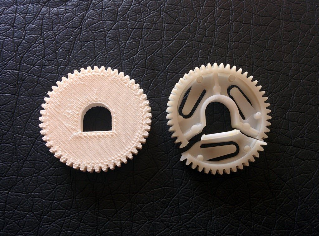 comparison_display_large.jpg Download free STL file Icemaker Drive Gear Replacement • 3D printing model, Djindra