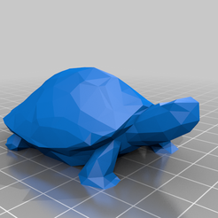 Turtle.png Download free STL file Low Poly Turtle No Supports • 3D printer template, Smallgran