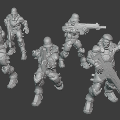 whole-squad.png Download free file Krieg Spec Ops Commando • 3D printing object, trungquang1999