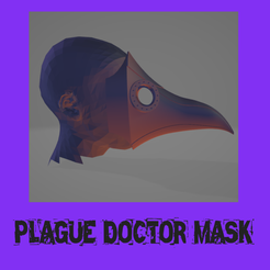 plage.png Download STL file real size | Plague doctor mask • 3D printing template, FenixYeshua