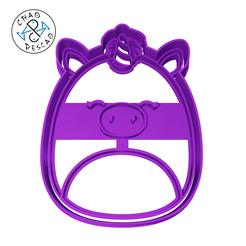 Squishmallows-Unicorn-Kennedy-8cm-2pc-CP.png Download STL file Unicorn - Squishmallows - Cookie Cutter - Fondant - Polymer Clay • 3D print template, Cambeiro