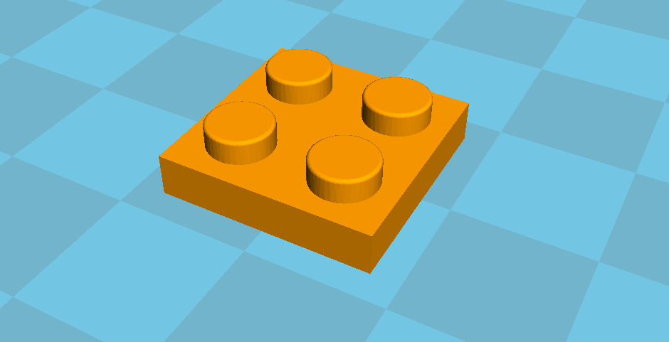 lego1.PNG Download free STL file Lego 2x2 placa • 3D printer object, Lys