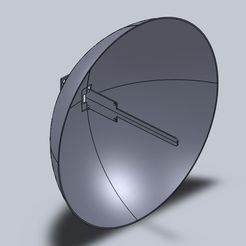 Untitled.jpg Download free STL file NodeMcu dish antenna • 3D printing template, prospect3dlab